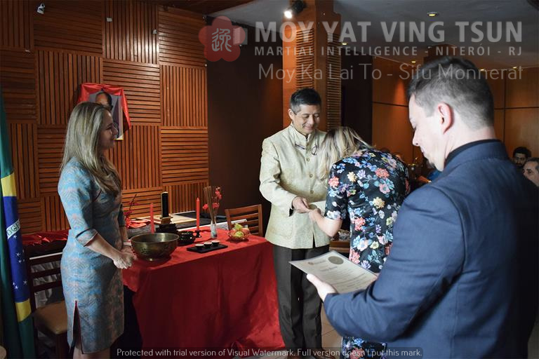 Cerimônia de Discipulado de Kamille Burns - moy yat ving tsun kung fu niteroi wing chun 77 - Cerimônia de Discipulado de Kamille Burns